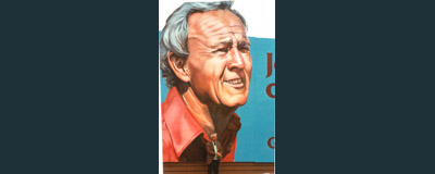 Arnold Palmer Painting, Arnold Palmer Portrait, Billboard Painting, Flying Armadillo Signs, Mike Burrell, FASCO