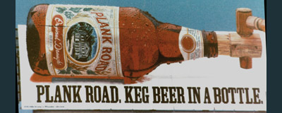 Plank Road Beer Painting, Billboard Painting, Flying Armadillo Signs, Mike Burrell, FASCO