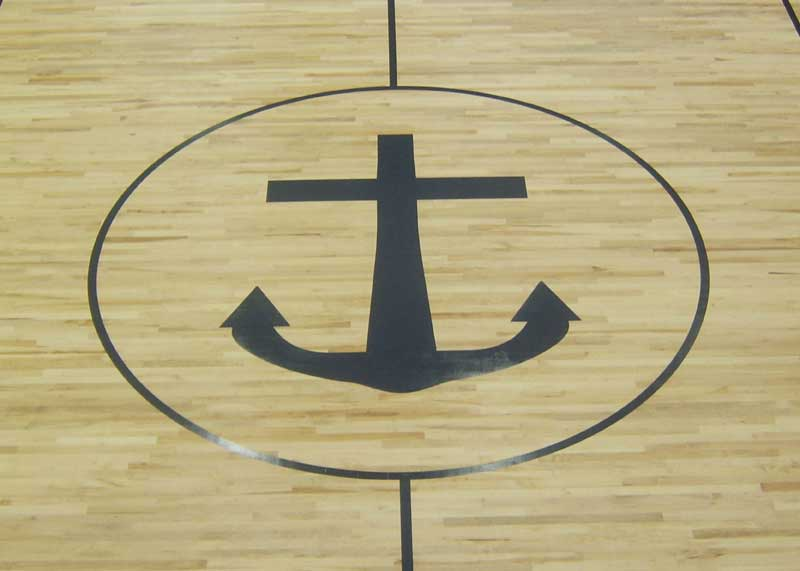 Anchor  Gym Floor Painting, Flying Armadillo Signs, Mike Burrell, FASCO